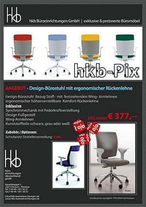 Angebot Design Bürostuhl mit ergonomischer Rückenlehne aus der Kollektion Büromöbel Tica von der Firma HKB Büroeinrichtungen GmbH Husum