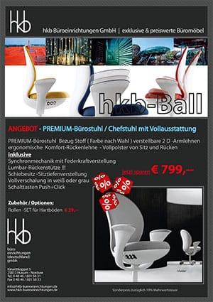 Angebot PREMIUM Bürostuhl Chefstuhl mit Vollausstattung aus der Kollektion Büromöbel Tica von der Firma HKB Büroeinrichtungen GmbH Husum