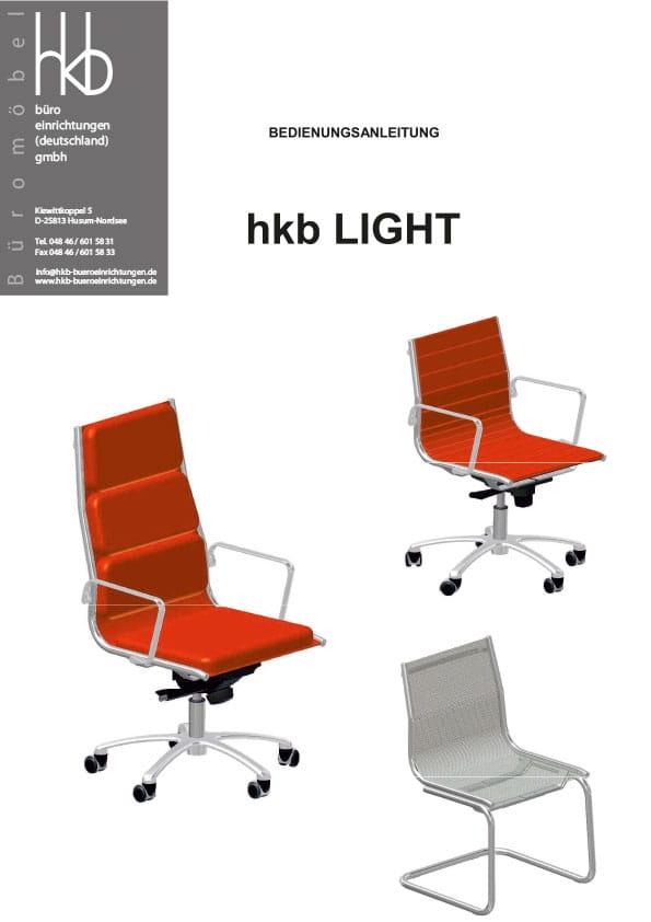 HKB Light Bürostuhl Bedienungsanleitung