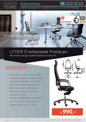 Angebot LEDER Chefsessel Premium aus der Kollektion Chefsessel Premium von der Firma HKB Büroeinrichtungen GmbH Husum