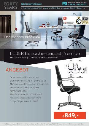 Angebot LEDER Besuchersessel Premium aus der Kollektion Chefsessel Premium von der Firma HKB Büroeinrichtungen GmbH Husum