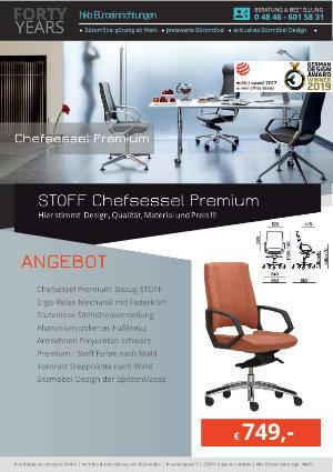 Angebot Stoff Chefsessel Premium aus der Kollektion Chefsessel Premium von der Firma HKB Büroeinrichtungen GmbH Husum