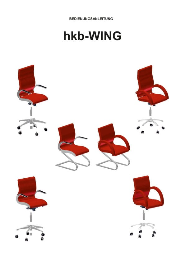 HKB Wing Bürostuhl Bedienungsanleitung