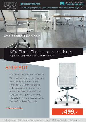 Angebot KEA Chair Chefsessel mit Netz aus der Kollektion Bürosessel KEA Chair von der Firma HKB Büroeinrichtungen GmbH Husum