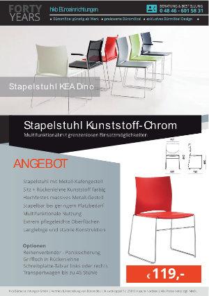 Angebot Stapelstuhl Kunststoff-Chrom aus der Kollektion Stapelstühle KEA Dino von der Firma HKB Büroeinrichtungen GmbH Husum