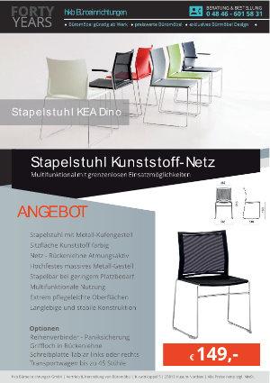 Angebot Stapelstuhl Kunststoff-Netz aus der Kollektion Stapelstühle KEA Dino von der Firma HKB Büroeinrichtungen GmbH Husum