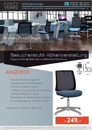 Angebot Besucherstuhl-Höhenverstellung aus der Kollektion Büromöbel KEA Style von der Firma HKB Büroeinrichtungen GmbH Husum