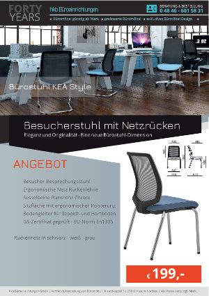 Angebot Besucherstuhl mit Netzrücken aus der Kollektion Büromöbel KEA Style von der Firma HKB Büroeinrichtungen GmbH Husum