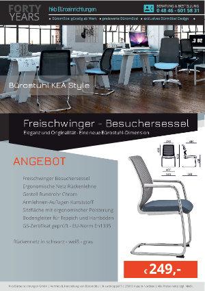 Angebot Freischwinger - Besuchersessel aus der Kollektion Büromöbel KEA Style von der Firma HKB Büroeinrichtungen GmbH Husum