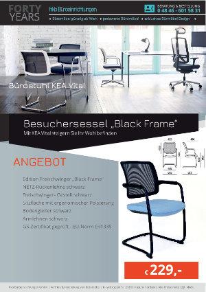 """Angebot Besuchersessel """"Black Frame"""" aus der Kollektion Bürostühle KEA Vital von der Firma HKB Büroeinrichtungen GmbH Husum"""