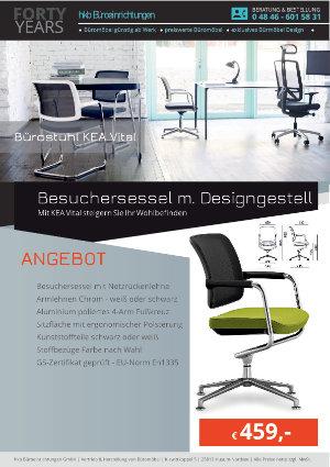 Angebot Besuchersessel m. Designgestell aus der Kollektion Bürostühle KEA Vital von der Firma HKB Büroeinrichtungen GmbH Husum