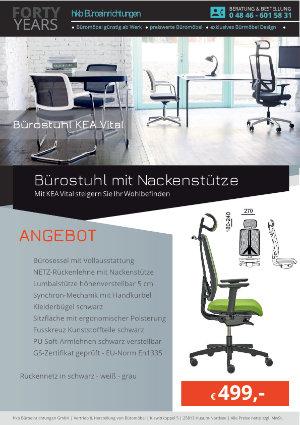 Angebot Bürostuhl mit Nackenstütze aus der Kollektion Bürostühle KEA Vital von der Firma HKB Büroeinrichtungen GmbH Husum