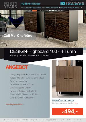 Angebot DESIGN-Highboard 100 - 4 Türen aus der Kollektion Büromöbel Call Me von der Firma HKB Büroeinrichtungen GmbH Husum
