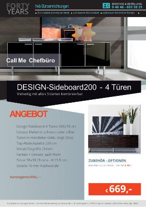Angebot DESIGN-Sideboard 200 - 4 Türen aus der Kollektion Büromöbel Call Me von der Firma HKB Büroeinrichtungen GmbH Husum