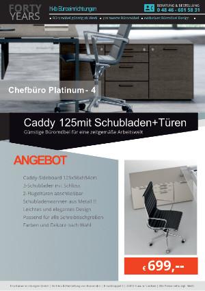 Angebot Caddy 125 mit Schubladen+Türen aus der Kollektion Büromöbel Platinum-4 von der Firma HKB Büroeinrichtungen GmbH Husum