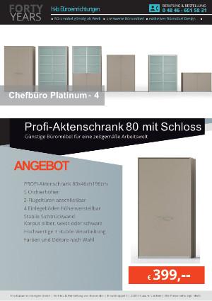Angebot Profi-Aktenschrank 80 mit Schloss aus der Kollektion Büromöbel Platinum-4 von der Firma HKB Büroeinrichtungen GmbH Husum