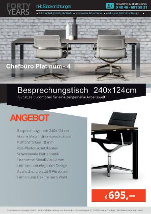 Angebot Besprechungstisch 240x124 cm aus der Kollektion Büromöbel Platinum-4 von der Firma HKB Büroeinrichtungen GmbH Husum