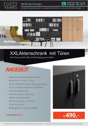 Angebot XXL Aktenschrank ALU-Frame von der Firma HKB Büroeinrichtungen GmbH Husum