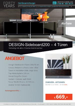Angebot Sideboard ALU-Frame von der Firma HKB Büroeinrichtungen GmbH Husum