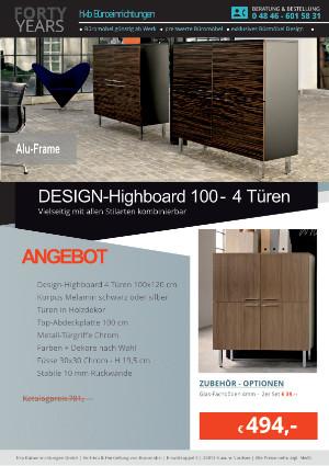 Angebot Highboard ALU-Frame von der Firma HKB Büroeinrichtungen GmbH Husum