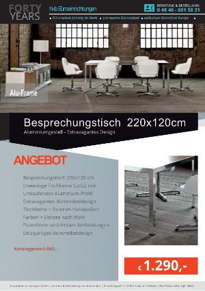 Angebot Besprechungstisch ALU-Frame von der Firma HKB Büroeinrichtungen GmbH Husum
