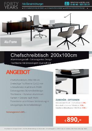 Angebot Schreibtisch ALU-Frame von der Firma HKB Büroeinrichtungen GmbH Husum