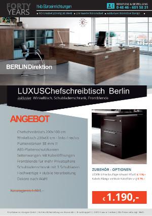 aus der Kollektion Büromöbel Berlin von der Firma HKB Büroeinrichtungen GmbH HusumBüromöbel Berlin online kaufen | Chefschreibtisch Chefbüro Chefzimmer Sonderangebote