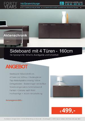 Sideboard mit 4 Türen - Breite 160 cm von der Firma HKB Büroeinrichtungen GmbH Husum