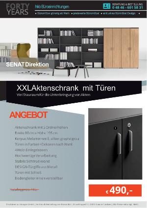 Angebot XXL-Aktenschrank mit Türen aus der Kollektion Büromöbel Senat von der Firma HKB Büroeinrichtungen GmbH Husum