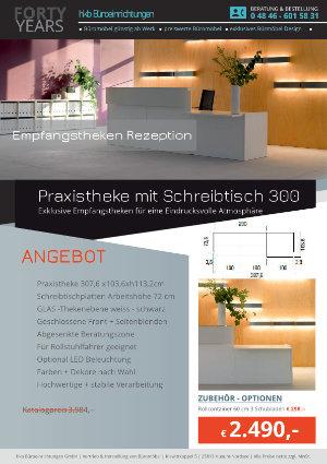Praxistheke mit Schreibtisch 300 aus der Kollektion Empfang eckig von der Firma HKB Büroeinrichtungen GmbH Husum