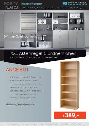 Angebot XXL Aktenregal 6 Ordnerhöhen aus der Kollektion Büromöbel günstig von der Firma HKB Büroeinrichtungen GmbH Husum