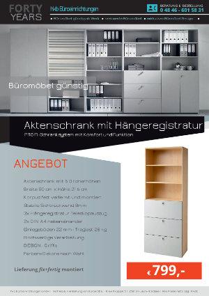 Angebot Aktenschrank mit Hängeregistratur aus der Kollektion Büromöbel günstig von der Firma HKB Büroeinrichtungen GmbH Husum