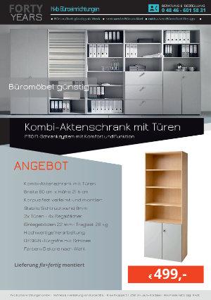 Angebot Kombi-Aktenschrank mit Türen aus der Kollektion Büromöbel günstig von der Firma HKB Büroeinrichtungen GmbH Husum