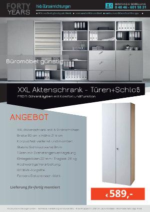 Angebot XXL Aktenschrank - Türen+Schloß aus der Kollektion Büromöbel günstig von der Firma HKB Büroeinrichtungen GmbH Husum