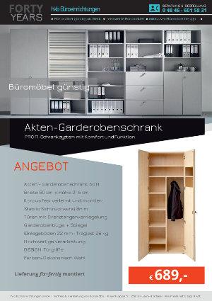 Angebot Akten-Garderobenschrank aus der Kollektion Büromöbel günstig von der Firma HKB Büroeinrichtungen GmbH Husum