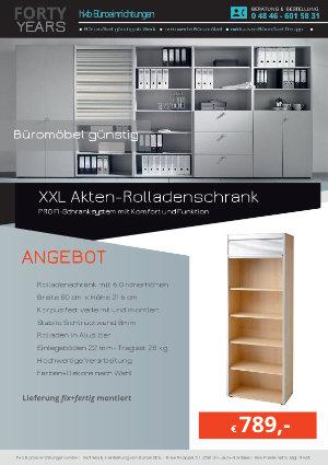 Angebot XXL Akten-Rolladenschrank aus der Kollektion Büromöbel günstig von der Firma HKB Büroeinrichtungen GmbH Husum