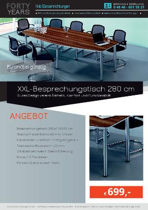 Angebot XXL-Besprechungstisch 280 cm aus der Kollektion Büromöbel günstig von der Firma HKB Büroeinrichtungen GmbH Husum