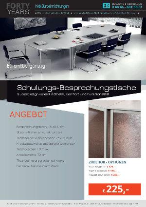 Angebot Schulungs-Besprechungstische aus der Kollektion Büromöbel günstig von der Firma HKB Büroeinrichtungen GmbH Husum