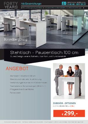 Angebot Stehtisch - Pausentisch 100 cm aus der Kollektion Büromöbel günstig von der Firma HKB Büroeinrichtungen GmbH Husum