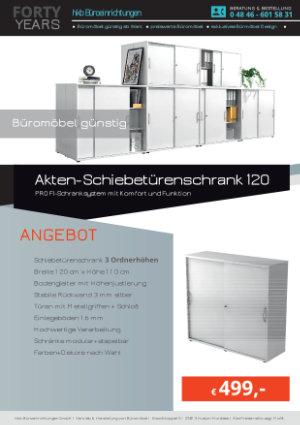 Angebot Akten-Schiebetürenschrank 120 aus der Kollektion Büromöbel Günstig von der Firma HKB Büroeinrichtungen GmbH Husum
