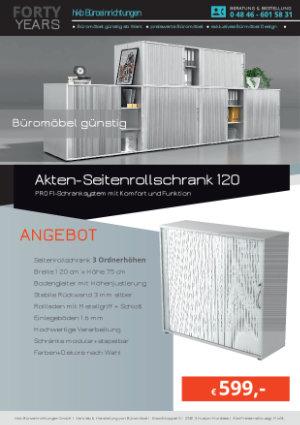 Angebot Akten-Seitenrollschrank 120 aus der Kollektion Büromöbel Günstig von der Firma HKB Büroeinrichtungen GmbH Husum