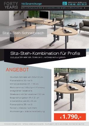 Angebot Sitz-Steh-Kombination für Profis aus der Kollektion Büromöbel Günstig von der Firma HKB Büroeinrichtungen GmbH Husum