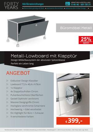 Angebot Beistellmöbel mit Klapptür aus der Kollektion Büromöbel Metall von der Firma HKB Büroeinrichtungen GmbH Husum