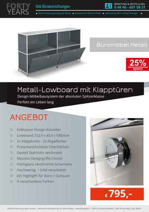 Angebot Beistellmöbel Klapptüren aus der Kollektion Büromöbel Metall von der Firma HKB Büroeinrichtungen GmbH Husum