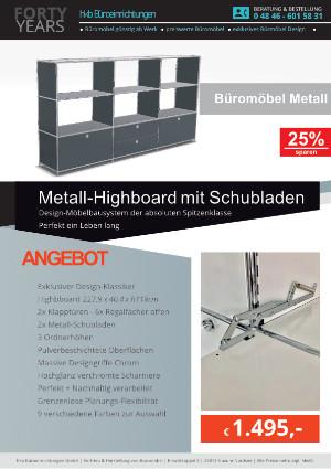Angebot Highboard aus der Kollektion Büromöbel Metall von der Firma HKB Büroeinrichtungen GmbH Husum