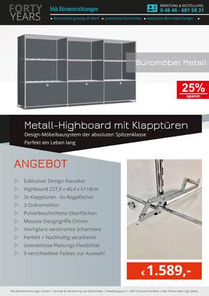 Angebot Hoghboard mit Klapptüren aus der Kollektion Büromöbel Metall von der Firma HKB Büroeinrichtungen GmbH Husum
