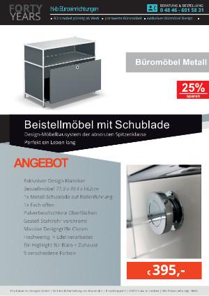 Angebot Beistellmöbel mit Schublade aus der Kollektion Büromöbel Metall von der Firma HKB Büroeinrichtungen GmbH Husum