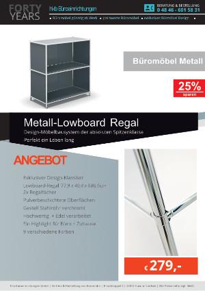 Angebot Metall-Lowboard Regal aus der Kollektion Büromöbel Metall von der Firma HKB Büroeinrichtungen GmbH Husum