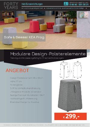 Modulare Design-Polsterelemente aus der Kollektion Kea Frog von der Firma HKB Büroeinrichtungen GmbH Husum