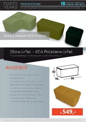 Angebot Sitzwürfel - KEA Polsterwürfel aus der Kollektion Kea Puzzle von der Firma HKB Büroeinrichtungen GmbH Husum